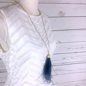 NWT J. CREW Feather Pendant Necklace